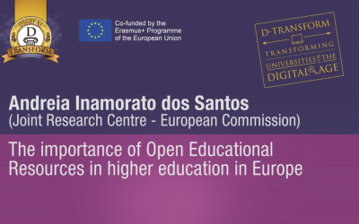 The importance of Open Educational Resources in higher education in Europe